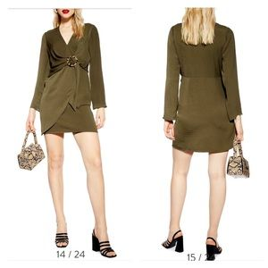 topshop mini wrap dress trendy tortoise ring